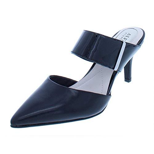 Heels Alfani - Alfani Womens Jalessia Leather Pointed Toe Dress Heels, Black, Size 6.5