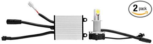 White 30W 2000 Lumen Cree H3 LED Headlight Bulb Pair H3-L30W IPCW