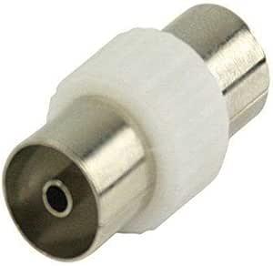 CABLEPELADO Adaptador Antena Blanco (Hembra-Hembra)