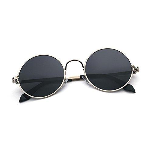 Clásico 3 Unisex YQ Solar Redondo QY 1 Marco Protección Gafas Retro Reflejo Color Sol Protección De UV Anti TTFS0qw