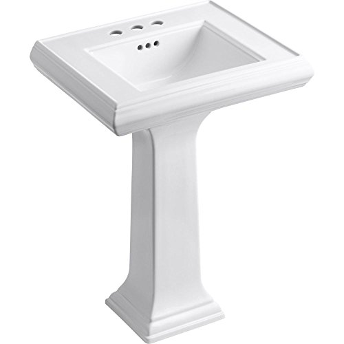 KOHLER K-2238-4-0 Memoirs Pedestal Bathroom Sink with 4