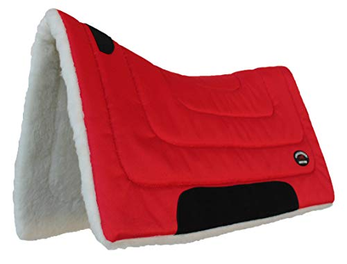 CHALLENGER Horse Saddle PAD Western Riding Show Trail Cordura Top Fur Bottom Full - Blanket Saddle Pad Horse
