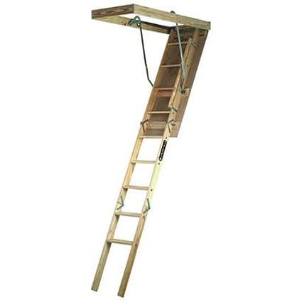 Louisville Ladder 22.5 by 54-Inch Wooden Attic Ladder 7 Foot To 8-  sc 1 st  Amazon.com & Amazon.com: Louisville Ladder 22.5 by 54-Inch Wooden Attic Ladder 7 ...