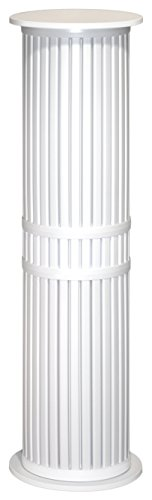 54 Inch Tall X 15.5 Diameter Plastic Display Pedestal (White Display Pedestal compare prices)