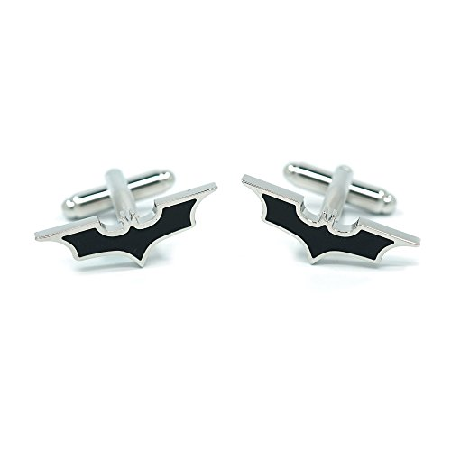 Teri's Boutique Super Hero Batman Men's Fashion Jewelry Wedding Business Cuff Links w/ Gift Box (Black Bat) by Teri's Boutique