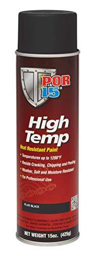POR-15 44118 Black High Temperature Paint Flat - 15 fl. oz. ()