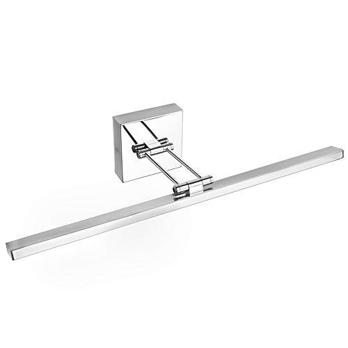 Ralbay 21.7 inch 12W Modern LED Bathroom Vanity Light Fixtures Stainless Steel -