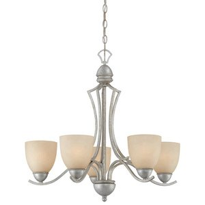 Thomas Lighting SL808272 Triton Collection 5 Light Chandelier, Moonlight Silver
