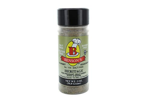 (Heritage Game Bird & Poultry Salt-Free Seasoning - Makes Great Stuffing, Dressing, Wild Rice and More (2 oz)