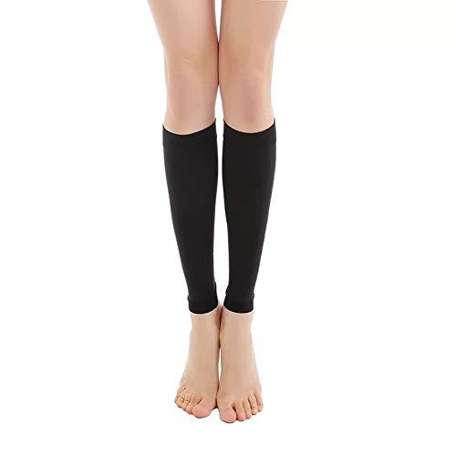 Leg Tattoo Sleeves - 1 PCS Black/Skin Color Lower Leg Tattoo Cover Up Compression Sleeves Fat Burning Men Women (L, Black)