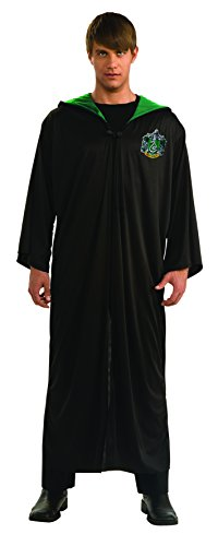 Harry Potter Adult Slytherin Robe, Black, Standard (Adult Harry Potter Robes)