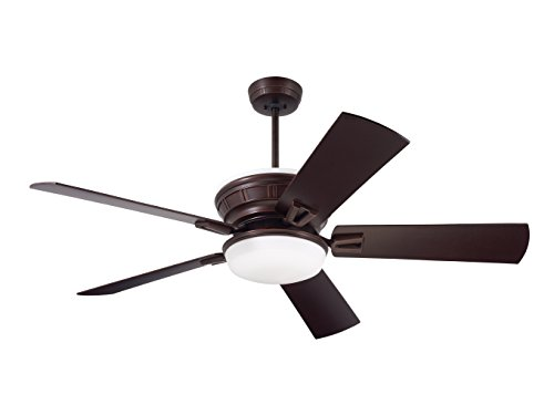 Emerson Ceiling Fans CF965VNB Portland Eco Ceiling Fan with Light, Wall Control and 54
