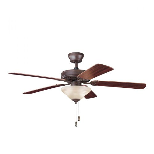 UPC 783927366380, Kichler Lighting 339220TZ Sterling Manor Select ES 52-Inch Ceiling Fan, Tannery Bronze Finish with Reversible Cherry/Teak Blades and Light Kit