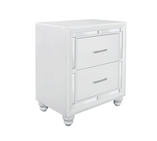 Global Furniture USA NS Mackenzie Nightstand, White