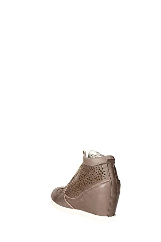 Taupe Pelle Taupe Grigio Keys 4937 Sneaker Damen Grau nAqWC1wCE