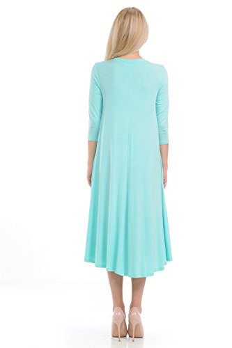 Line Trapeze Women's Mint Swing A iconic Midi luxe Dress xqtHwxXnB