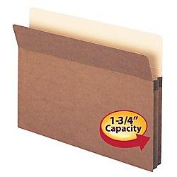 Smead File Pocket, Straight-Cut Tab, 1-3/4
