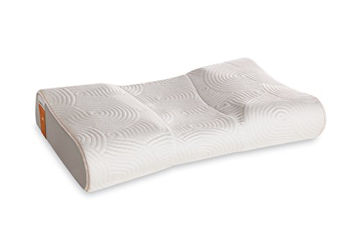 Tempur-Pedic TEMPUR-Ergo Advanced Neck Relief Pillow, Soft and Firm Support Washable Cover, Assembled in The USA, 5 YR Warranty, Standard, White ()
