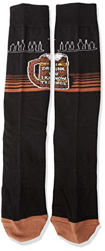 K. Bell Socks Men's Play on Words Novelty Crew Socks