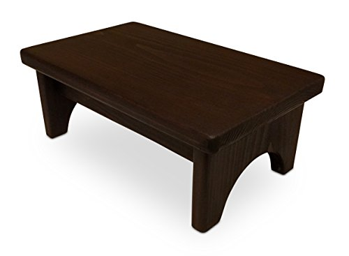 HollandCraft - The Perfect Wood Foot Stool - Handcrafted - Made in USA - Hidden Wood Dowels (No Screws, Staples or Nails) by HollandCraft