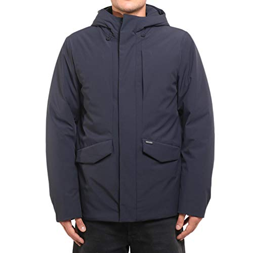 Wocps2707 Classic Uomo Woolrich Navy Giaccone HdqZZa