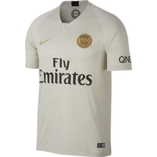 NIKE 2018-2019 Paris Saint-Germain (PSG) Away Stadium Jersey (Light Bone) ()