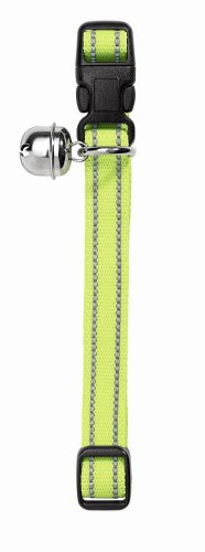 Katzenhalsband Flashlight Nylon gelb reflektierend
