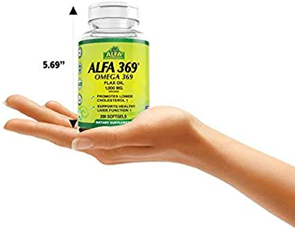 Amazon.com: ALFA 369 Omega 369 Flax Seed Oil 1000 mg, 1070002, 1 ...