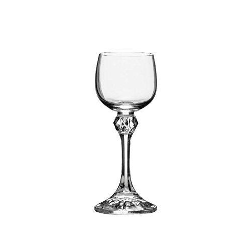 Bohemia Crystal ''Julia'' Liqueur Glasses, 2 Ounce, Set Of 6, Clear by Crystalex