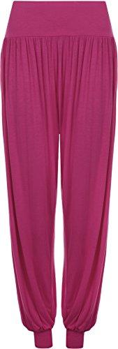 Pantaloni Taglie Pantaloni Piena Donna 12 Elasticizzato Magenta Casual Lunghezza 26 Formati Harem Da Forti Donna p5xzTqpwt