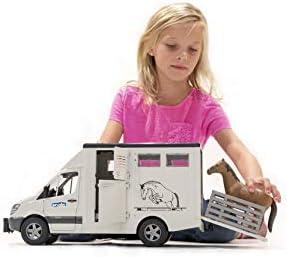 bruder 3422533 Toys Mercedes Benz Sprinter Tiertransporter inkl. 1 Pferd