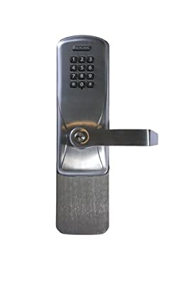 Schlage Electronics CO-100 Series Standalone Electronic Exit Trim Assembly for Use with Rim/CVC/CVR Exit Device, Schlage Cylinder Keyway, Keypad, Rhodes Lever, Satin Chrome Finish, For Classroom or Storeroom Use