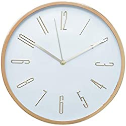 Relógio de Parede Plástico Long Numbers Urban Cobre