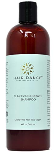 Apple Cider Vinegar Clarifying Growth Shampoo for Thinning Hair and Sensitive Scalp. Gentle to Itchy, Dry Scalp - Natural, Herbal, pH Balanced, No Sulfates or Parabens. Peppermint Scent 16 oz.