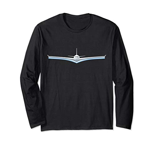 Take Off Flight Airbus Font USA National Aviation Day Long Sleeve -