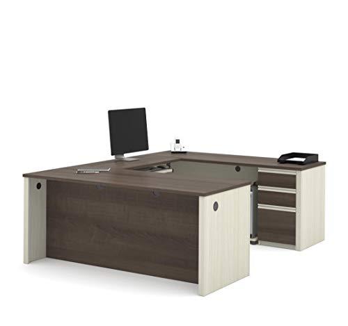 (Bestar U-Shaped Desk with Pedestal - Prestige Plus)