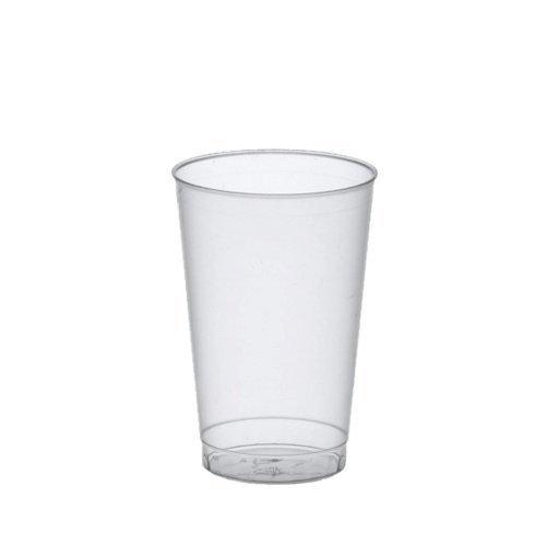 Papstar Trinkbecher / Plastikbecher (25 Stück) 0.3 l aus Polystrol-Kunststoff, Ø 7.8 x 11.8 cm, transluzent, unzerbrechlich,