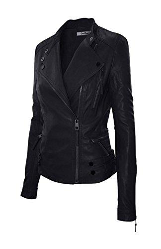 Silver Bike Leather Jacket - 6