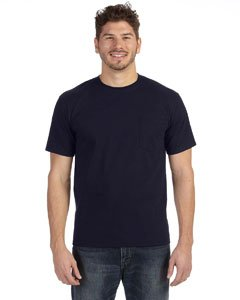 Anvil 783AN Heavyweight Ringspun Pocket T-Shirt - Navy - 3XL