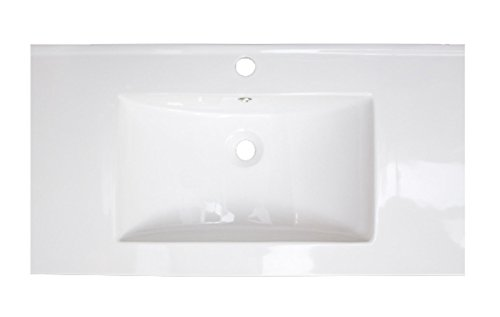 18.25-in. W Above Counter White Vessel Set For 1 Hole Center Faucet - Faucet Included