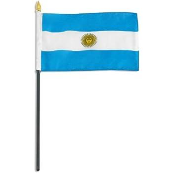 Amazon.com: Bandera de Argentina Mini País Pequeño 4 x 6 ...