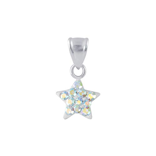 925 Sterling Silver Crystal Star Pendant - Crystal - Star Crystal Tipperary