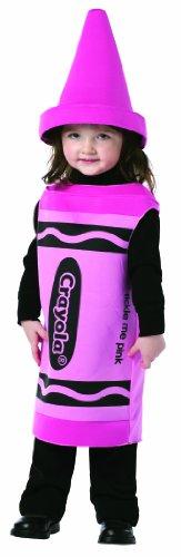 Crayola Crayons Costume (Rasta Imposta Crayola Tickle Me, Pink, 18-24)