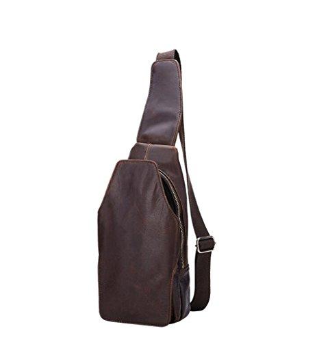 Pelle In Borsa Messenger Tracolla D'affari viaggio 15x5x32cm Uomo Bag Spalla A Vintage università 1 Tipo Sucastle YwCR0qBx
