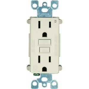Leviton X7599-3T Duplex GFCI Receptacle, Outlet, 15-Amp, 125-Volt, Light Almond (3-Pack)