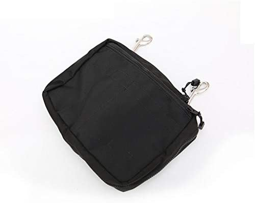 niumanery Drifting Diving Gear Storage Bag Purse Side Mount Pocket Zipper Pouch with Hooks Black