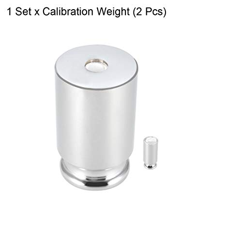 sourcing map Calibration Weight Set 10g 100g M1 Precision Chrome Plated Steel for Digital Balance Scales