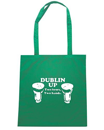 Shopper TIR0048 Verde UP DUBLIN Borsa 8SRgqwx