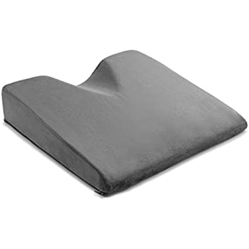 ComfySure Car Seat Wedge Cushion for Lower Back Pain Relief while Driving - Medium-Firm Memory Foam Orthopedic Chair Booster Pillow for Automobile