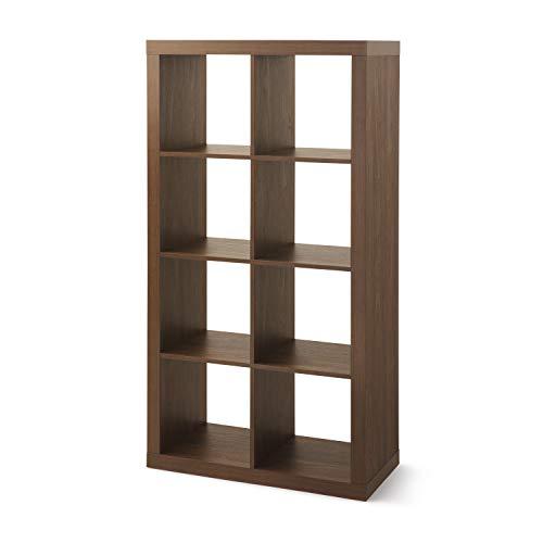 Better Homes & Gardens Bookcase/Shelve Organizer 8-Cube Storage in Vintage Walnut